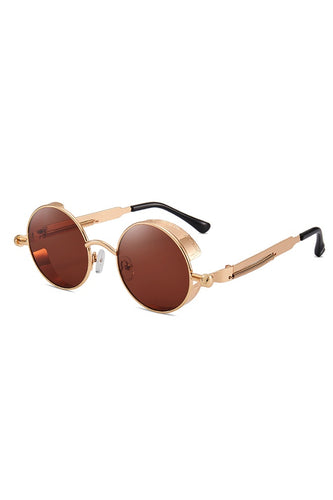 Sunglasses - Round Steam Sunglasses Brown