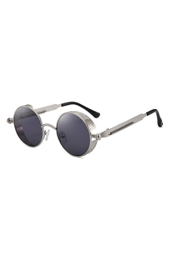 Sunglasses - Round Steam Sunglasses Silver