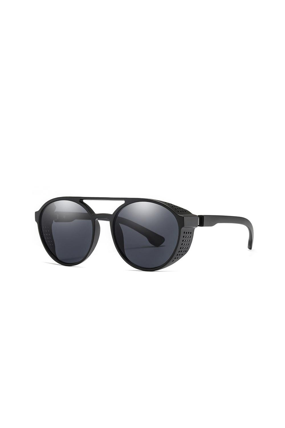 Sunglasses - Side Grill Aviator Sunglasses Black