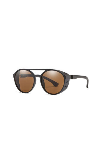 Sunglasses - Side Grill Aviator Sunglasses Brown
