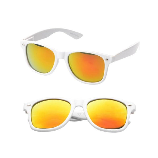 Sunglasses - Wayfarer Sunglasses White Revo