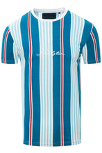 Load image into Gallery viewer, T-Shirts - 0 Stripe Signature T-Shirt Blue
