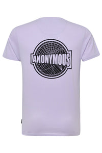 T-Shirts - Anonymous Back Print T-Shirt Lilac