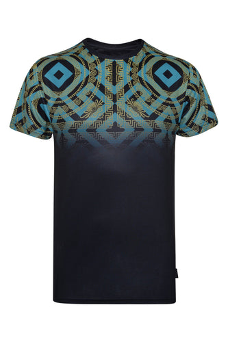 T-Shirts - Baroque Geo T-Shirt Black