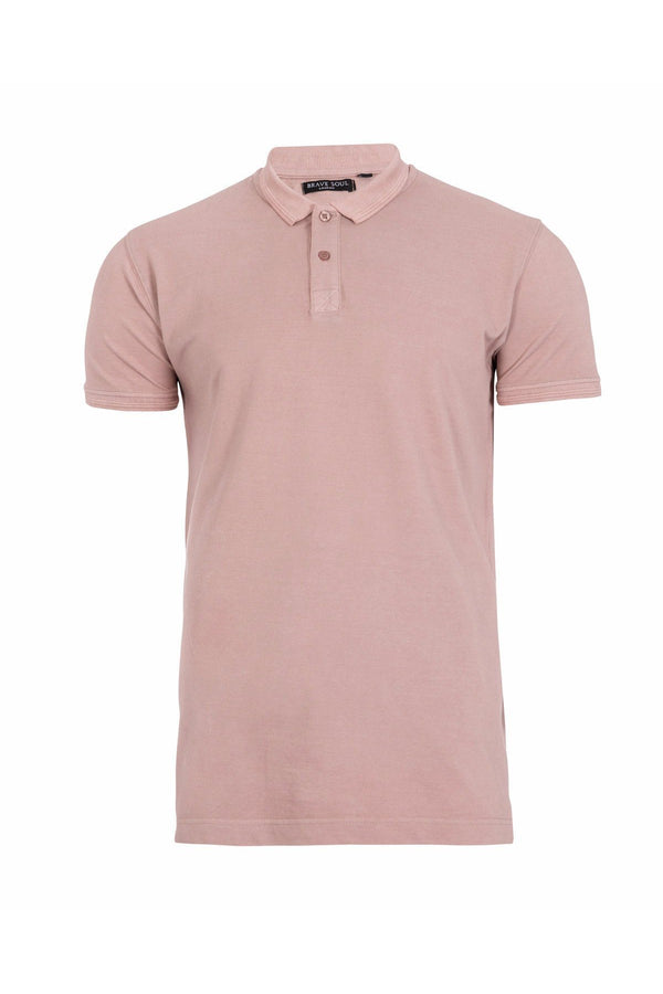 T-Shirts - Burnout Polo Dusty Pink