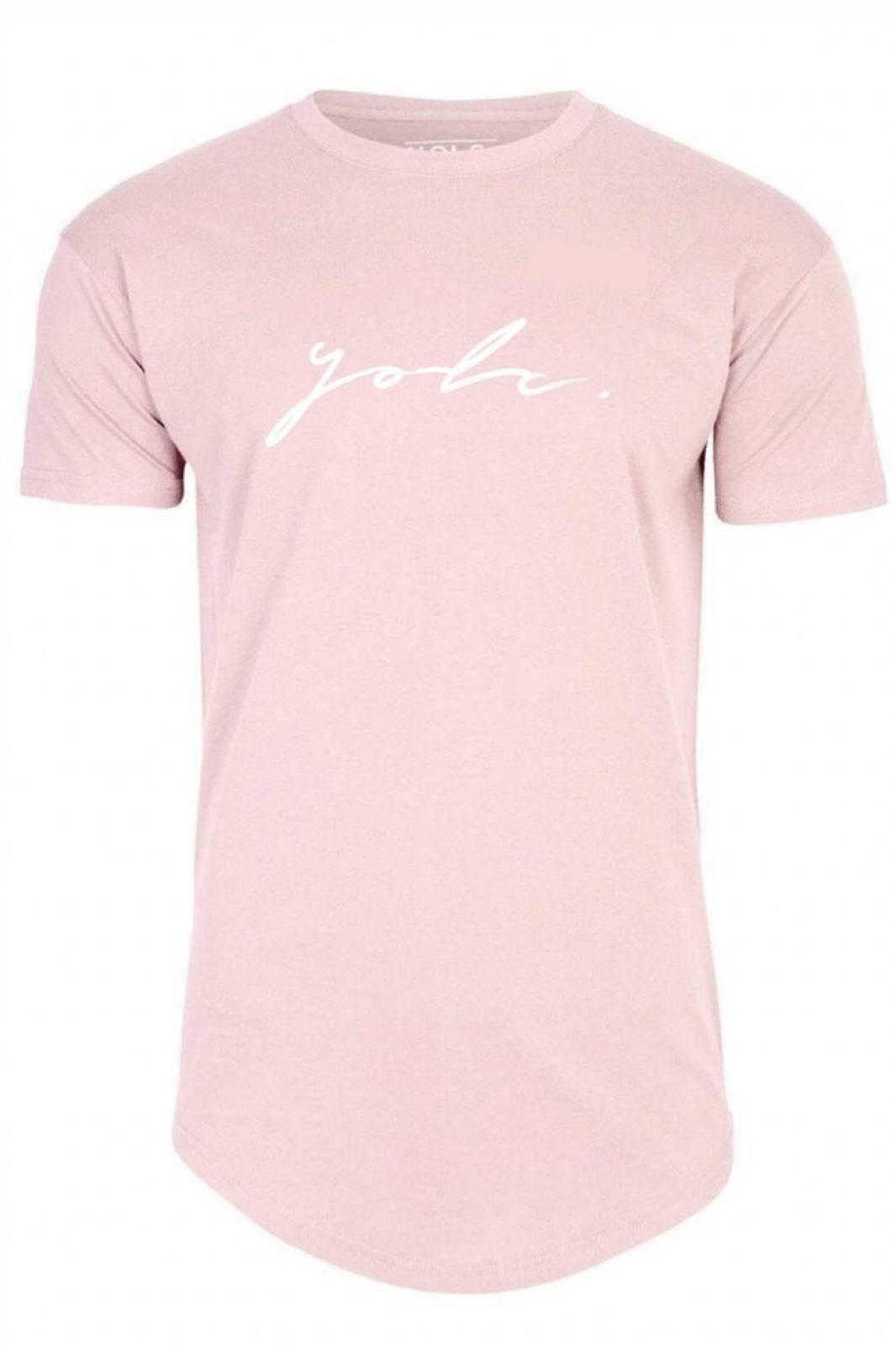 T-Shirts - Curved Hem Signature T-Shirt Pink