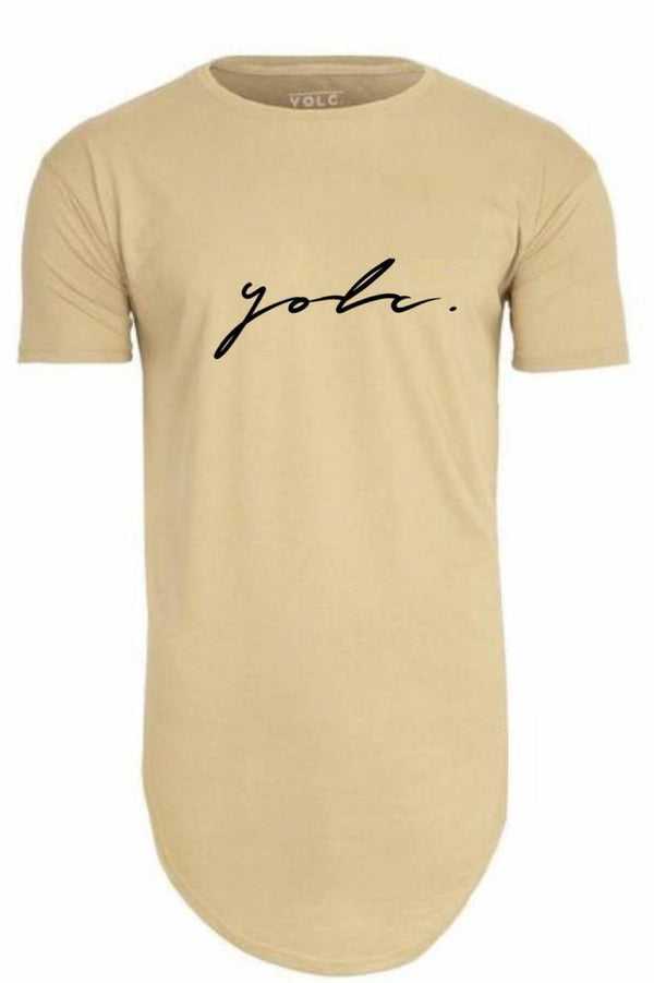 T-Shirts - Curved Hem Signature T-Shirt Tan