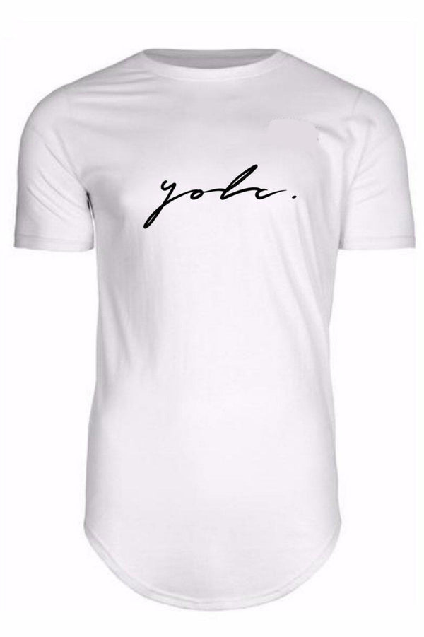T-Shirts - Curved Hem Signature T-Shirt White