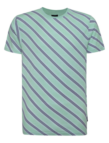 T-Shirts - Diagonal T-Shirt Mint