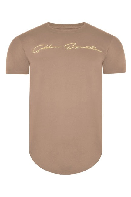 T-Shirts - DS Curved Hem Sig T-Shirt Sand