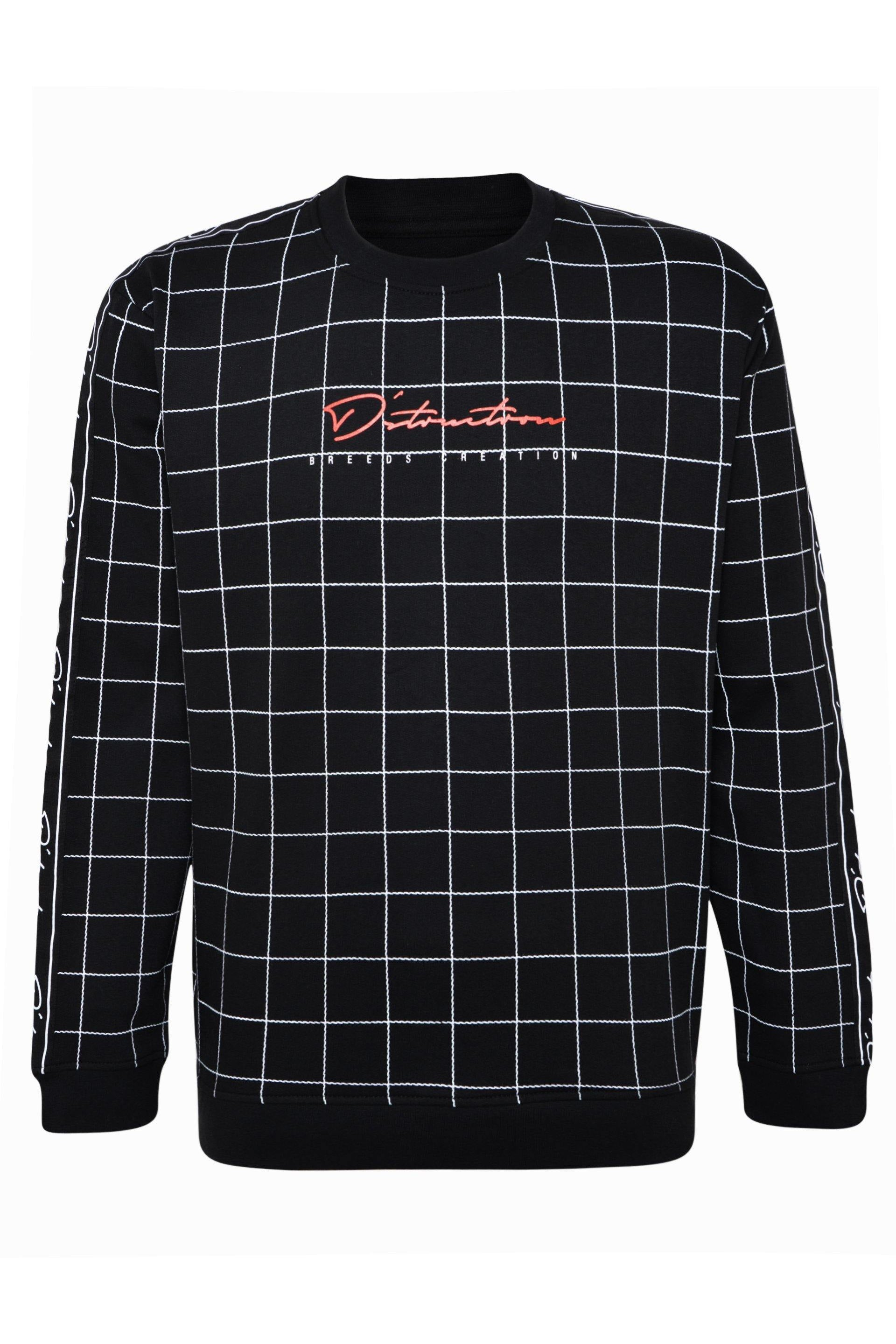 T-Shirts - Grid Sweater Black