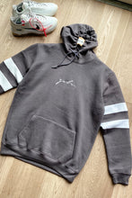 Load image into Gallery viewer, T-Shirts - Hoodie & Shorts Set Stripe Ash Grey