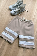Load image into Gallery viewer, T-Shirts - Hoodie & Shorts Set Stripe Stone