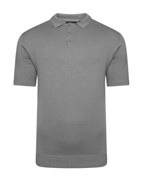 T-Shirts - Lightweight Knitted Polo Short Sleeve Dark Grey