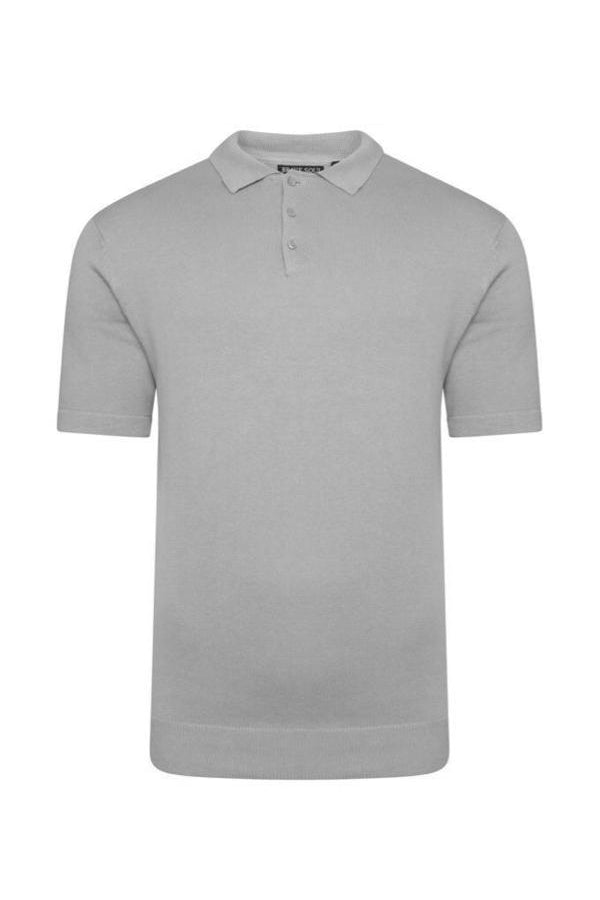 T-Shirts - Lightweight Knitted Polo Short Sleeve Grey