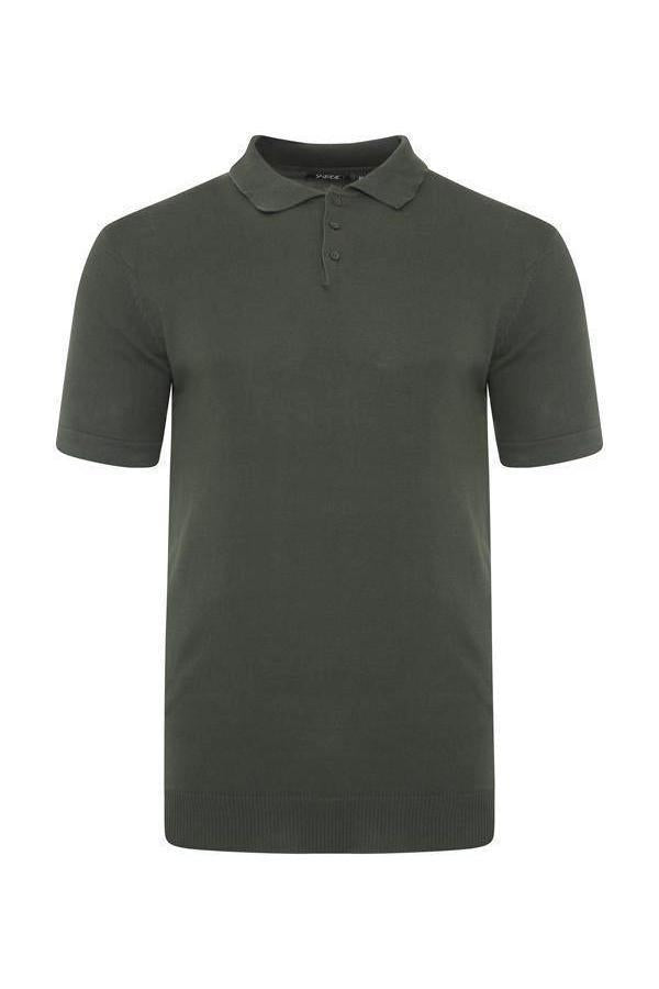 T-Shirts - Lightweight Knitted Polo Short Sleeve Khaki