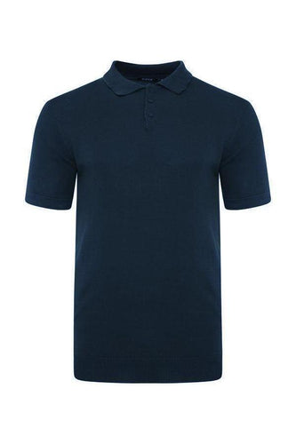 T-Shirts - Lightweight Knitted Polo Short Sleeve Navy