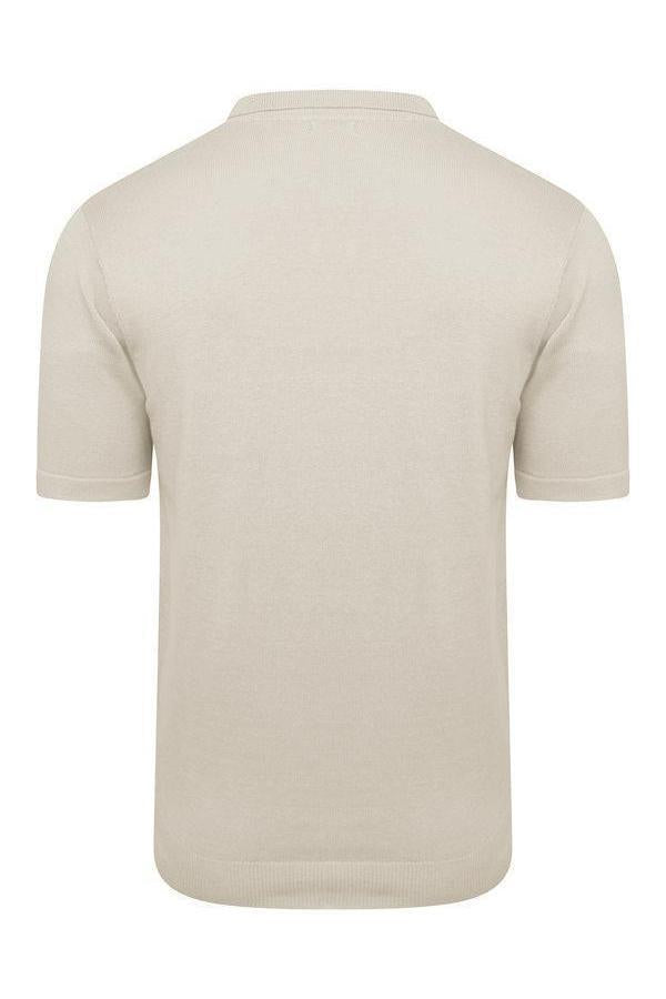 T-Shirts - Lightweight Knitted Polo Short Sleeve Sand