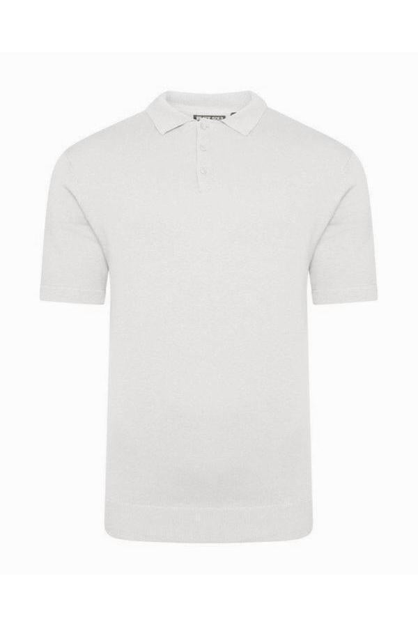 T-Shirts - Lightweight Knitted Polo Short Sleeve Stone