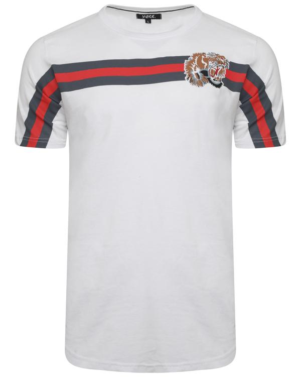 T-Shirts - Lion Stripe T-Shirt White