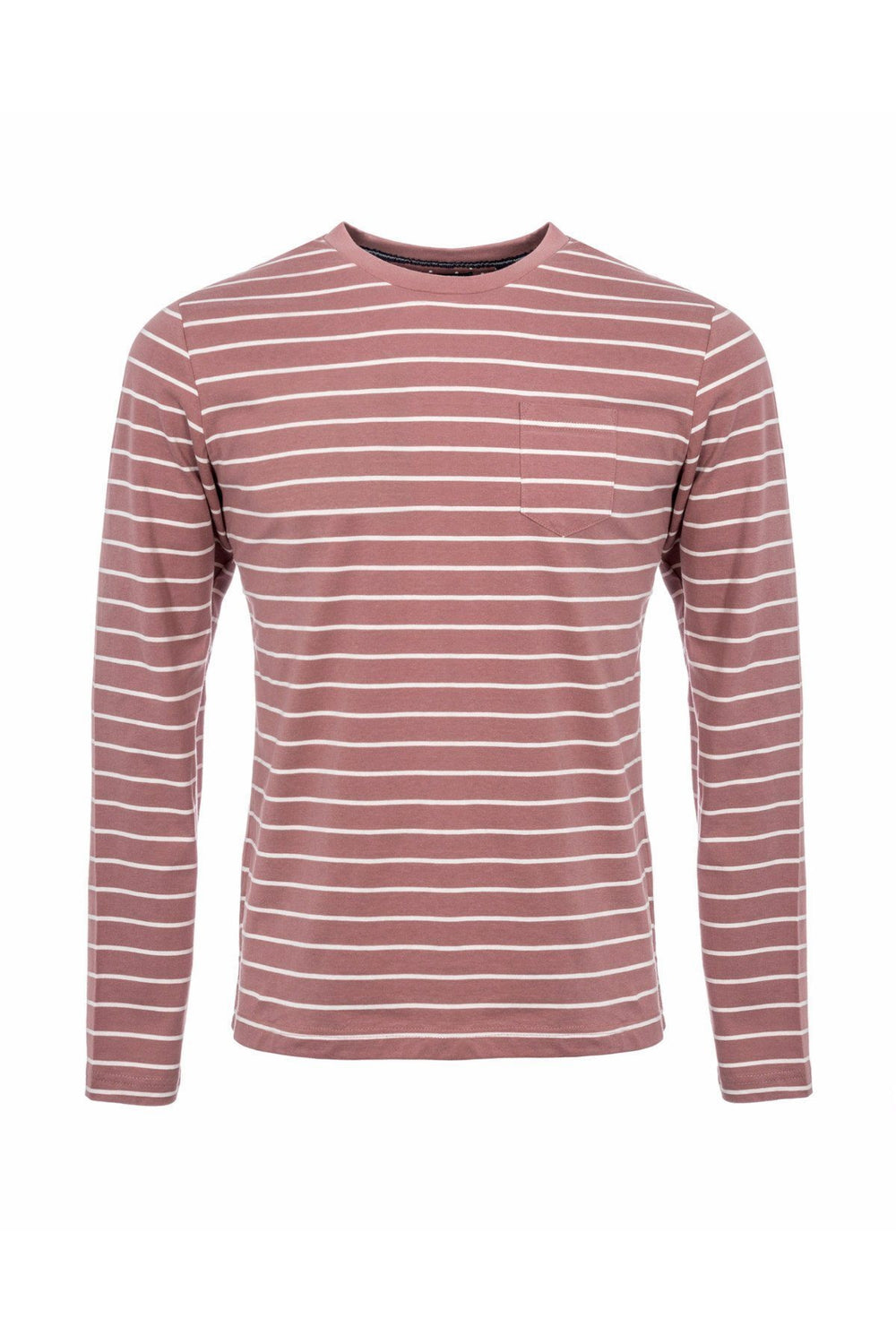 T-Shirts - Long Sleeve T-Shirt Stripe Dusty Pink