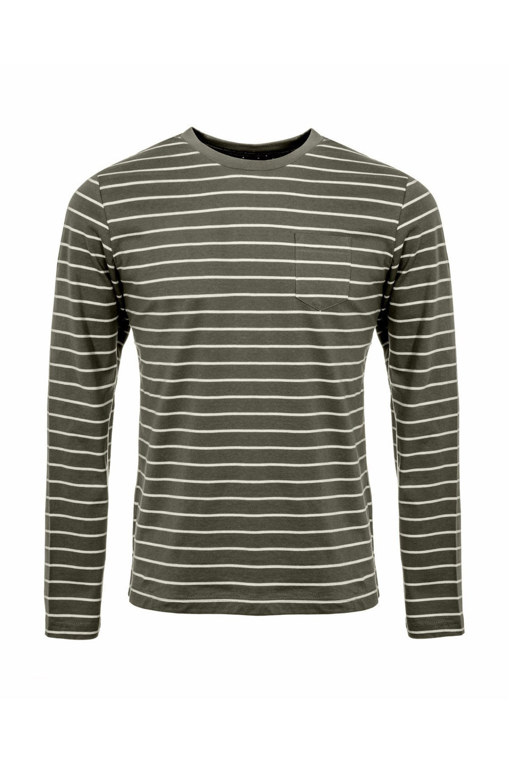 T-Shirts - Long Sleeve T-Shirt Stripe Light Khaki