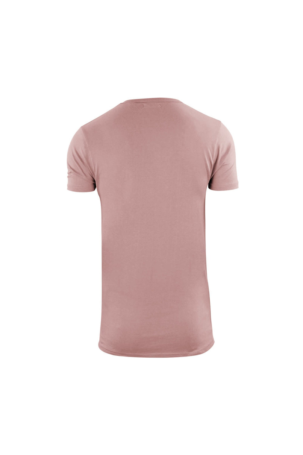 T-Shirts - Longline Zip T-Shirt Dusty Pink