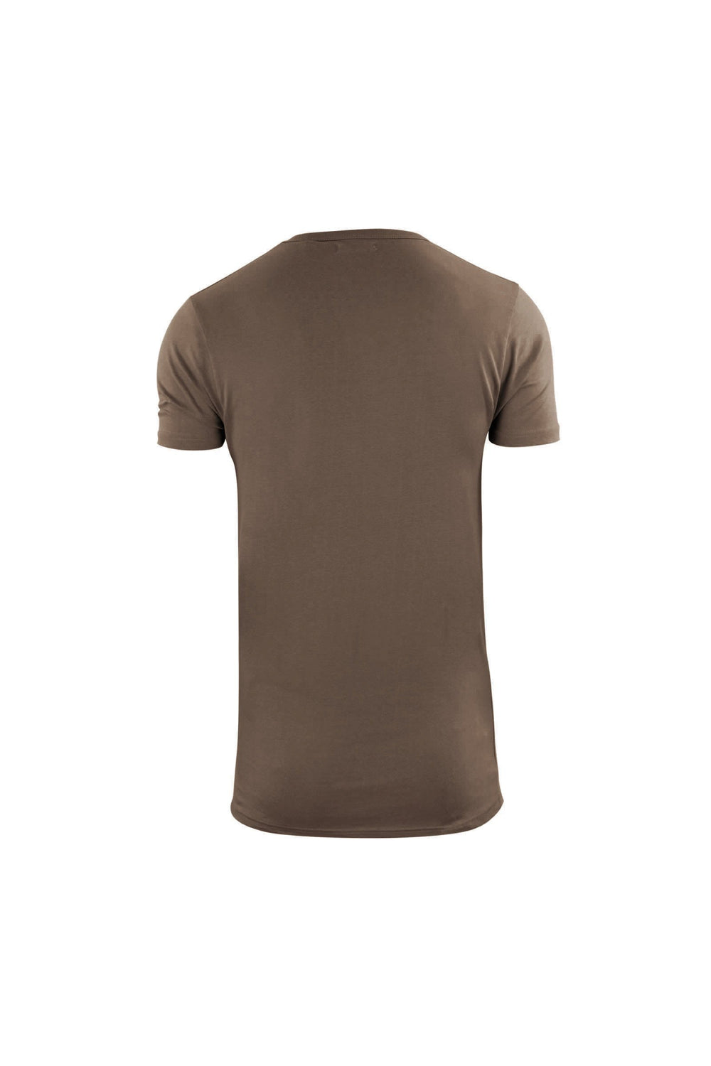T-Shirts - Longline Zip T-Shirt Military Brown