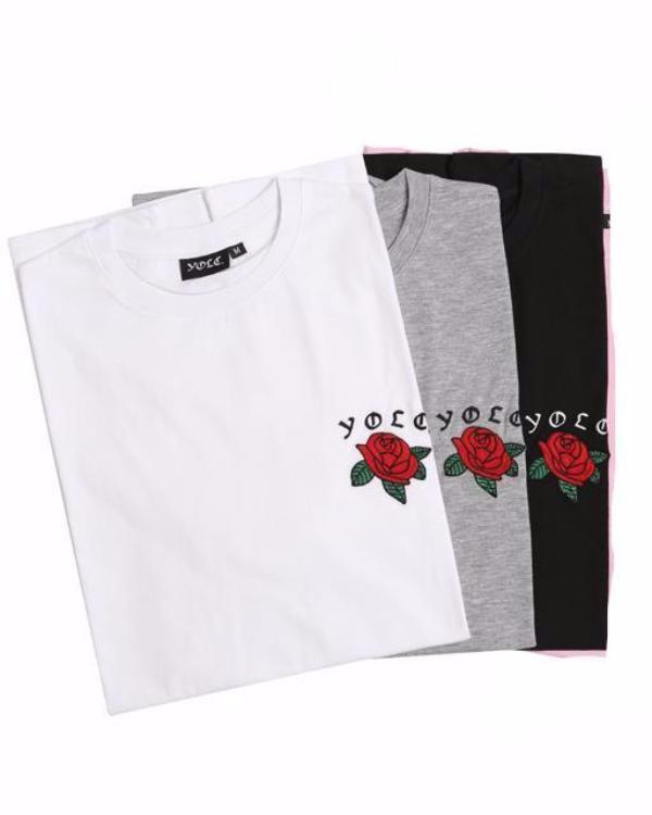 T-Shirts - Lux Rose T-Shirt Pack Of 3