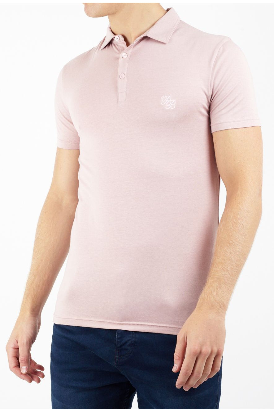 T-Shirts - Muscle Fit Polo Pastel Pink