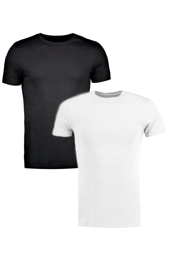 T-Shirts - Muscle Fit T-Shirt Pack White & Black