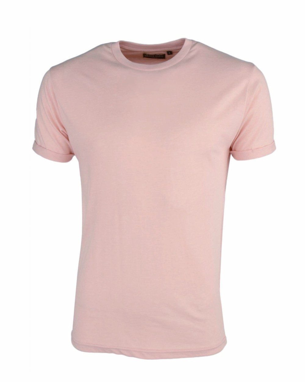 T-Shirts - O Roll Sleeve T-Shirt Dusty Pink