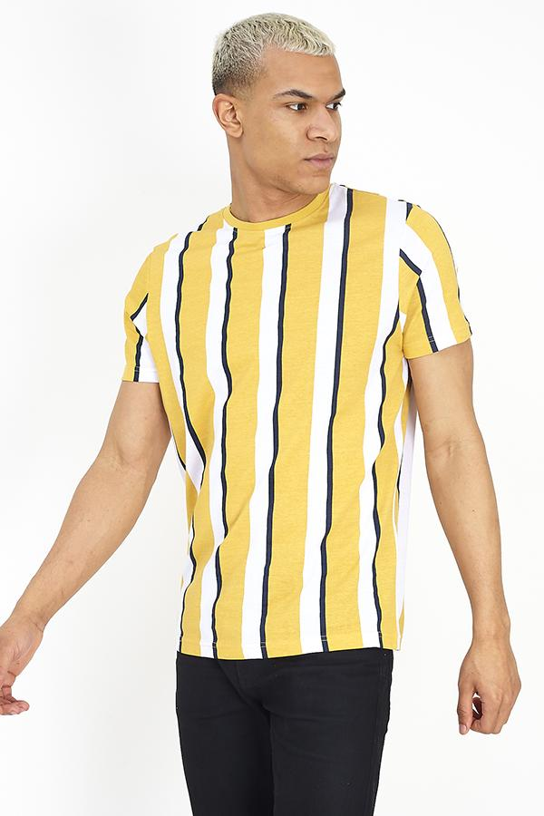 T-Shirts - Parlor Stripe T-Shirt Yellow