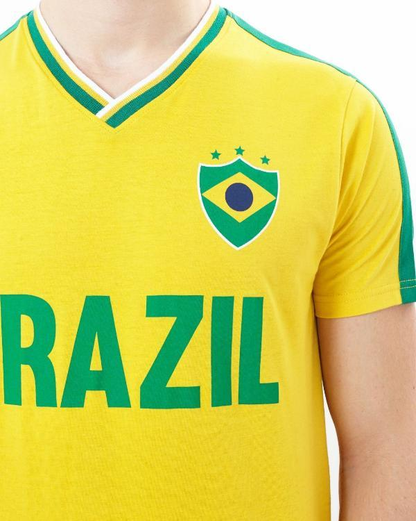 T-Shirts - Retro Brazil Tee Yellow