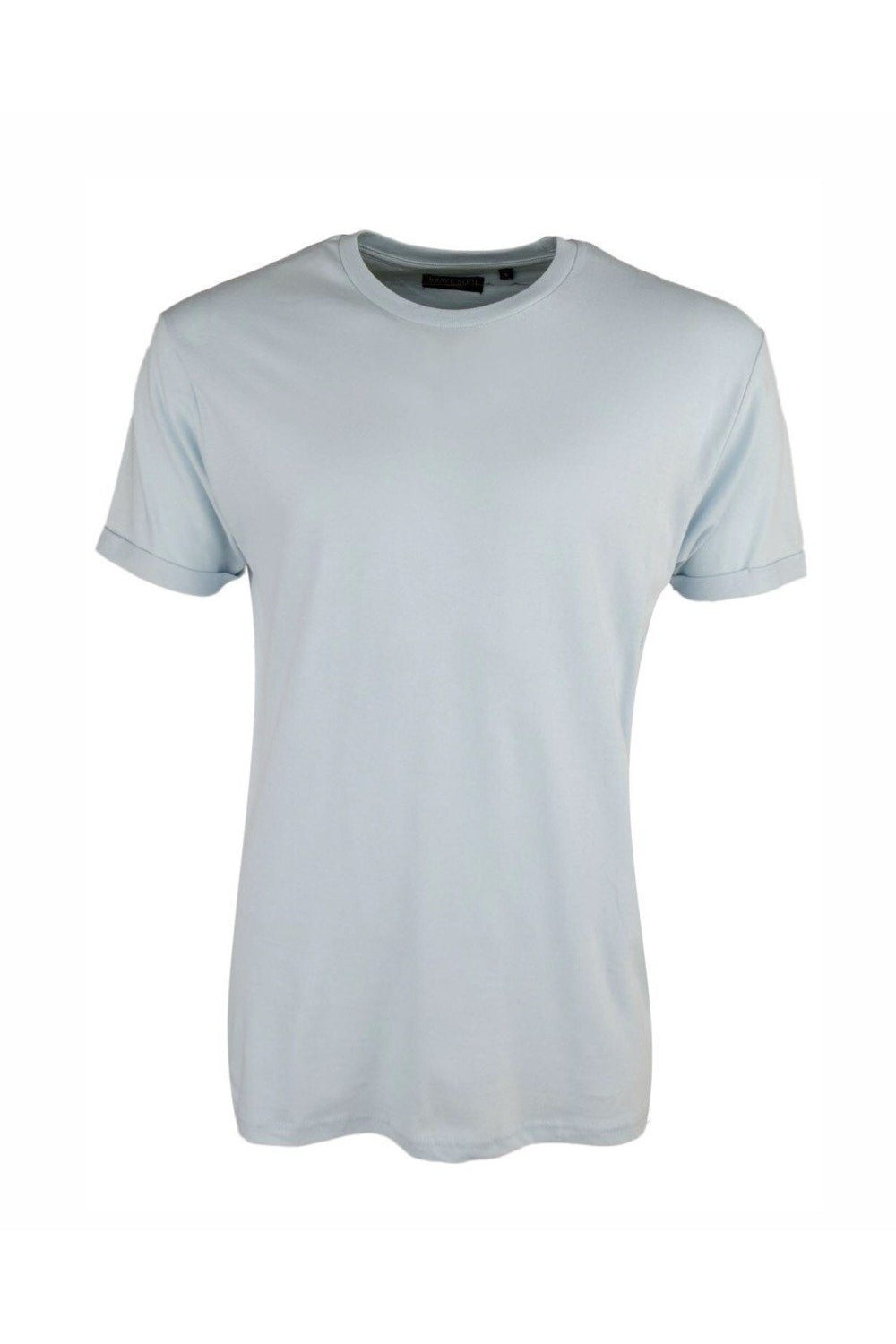 T-Shirts - Roll Sleeve T-Shirt Dusty Blue