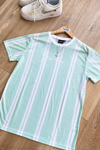 T-Shirts - Signature Stripe T-Shirt Mint/ White