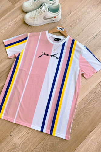 T-Shirts - Signature Stripe T-Shirt Pink