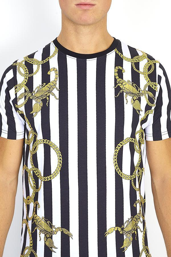 T-Shirts - Stripe Chain T-Shirt