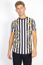 Load image into Gallery viewer, T-Shirts - Stripe Chain T-Shirt