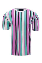 Load image into Gallery viewer, T-Shirts - Stripe T-Shirt Pastel Aqua