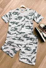 Load image into Gallery viewer, T-Shirts - Tee & Shorts Set Camo White