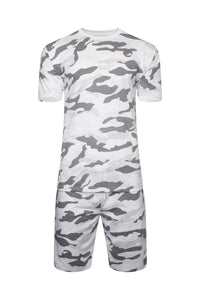 T-Shirts - Tee & Shorts Set Camo White