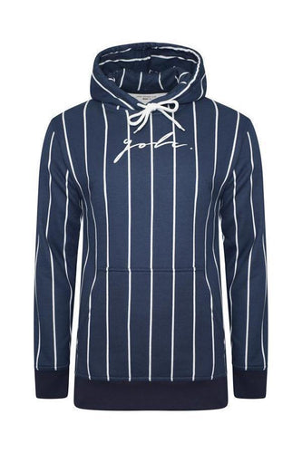 T-Shirts - Vertical Signature Hoodie Navy
