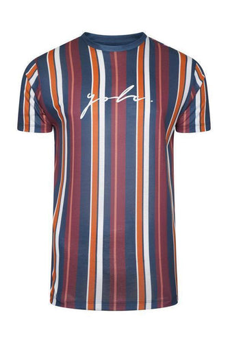 T-Shirts - Vertical Signature T-Shirt Burg/ Orange