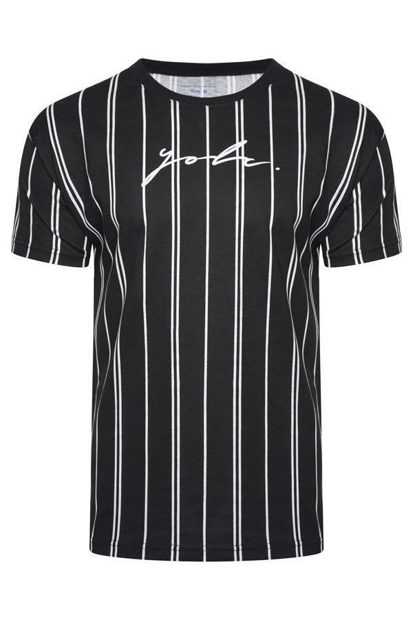 T-Shirts - Vertical Signature T-Shirt Double Black