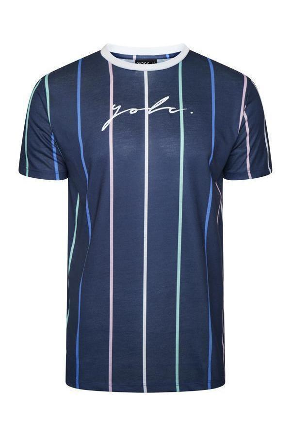 T-Shirts - Vertical Signature T-Shirt Multi Navy