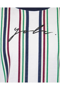 T-Shirts - Vertical Signature T-Shirt Multi White