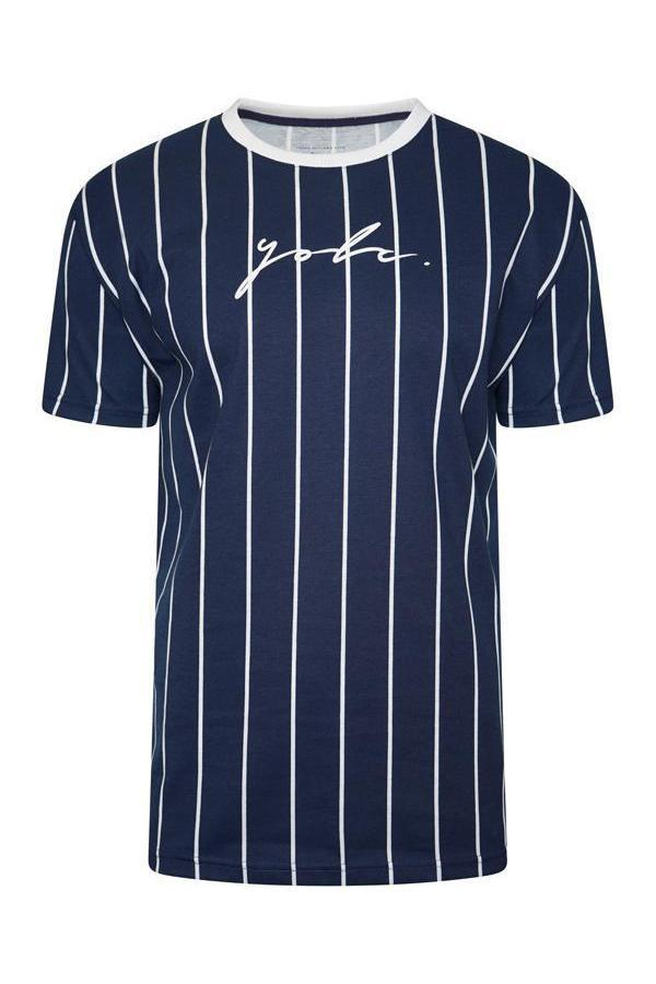 T-Shirts - Vertical Signature T-Shirt Navy