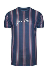 T-Shirts - Vertical Signature T-Shirt Plum Navy