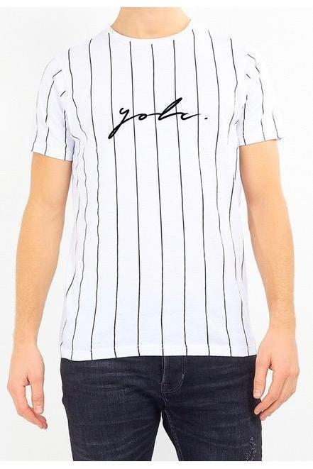 T-Shirts - Vertical Signature T-Shirt White